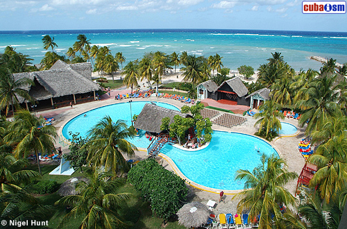 Hotel Guardalavaca Pool Aerial View