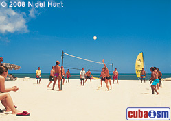 Volleyball in Hotel Guardalavaca Beach